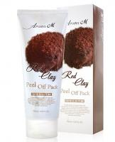 Deoproce - купить Плёночная маска с красной глиной Aroma M Red Clay Peel Off Pack, 180гр на Deoprocemarket.ru